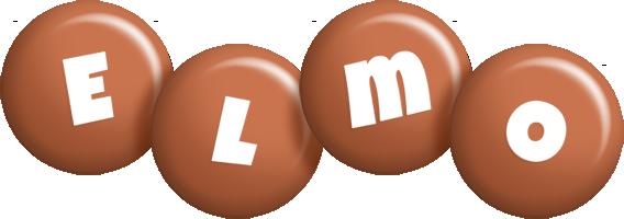 Elmo candy-brown logo