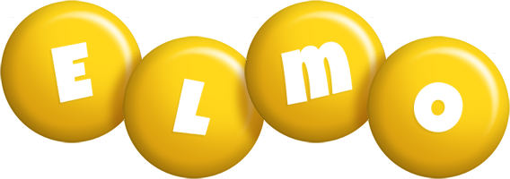 Elmo candy-yellow logo