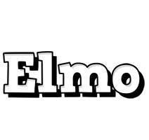 Elmo snowing logo