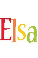Elsa birthday logo
