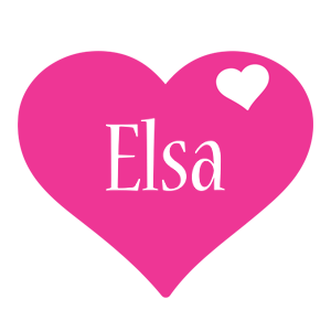 Elsa love-heart logo