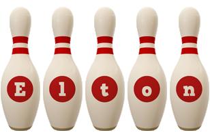 Elton bowling-pin logo