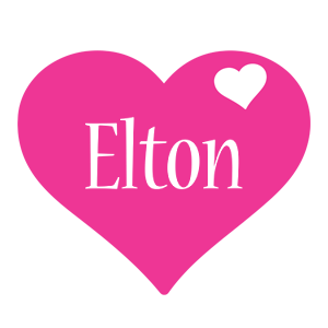 Elton love-heart logo