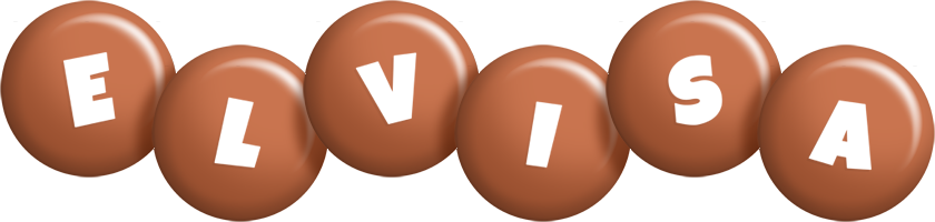 Elvisa candy-brown logo
