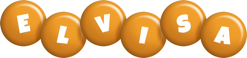 Elvisa candy-orange logo