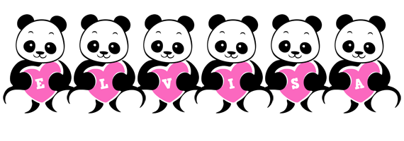 Elvisa love-panda logo