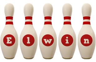 Elwin bowling-pin logo
