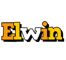 Elwin cartoon logo