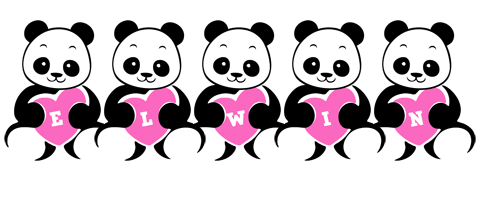 Elwin love-panda logo