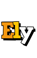 Ely cartoon logo