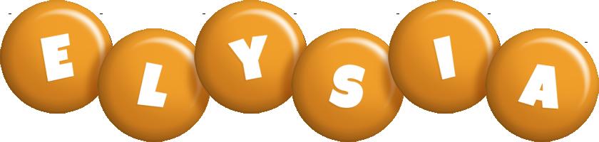 Elysia candy-orange logo