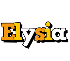 Elysia cartoon logo