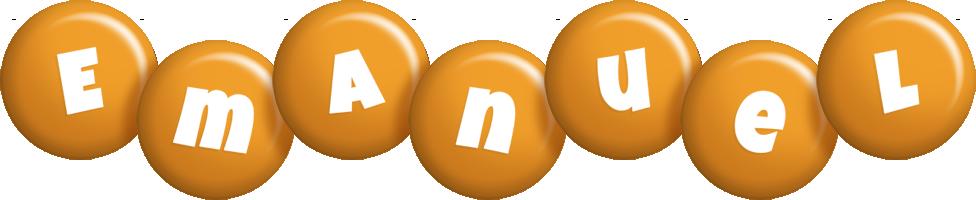 Emanuel candy-orange logo
