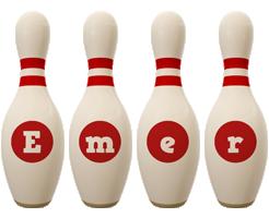 Emer bowling-pin logo