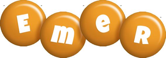 Emer candy-orange logo