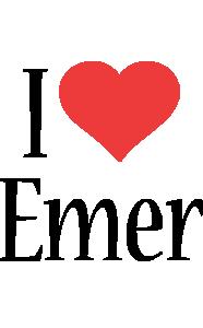 Emer i-love logo