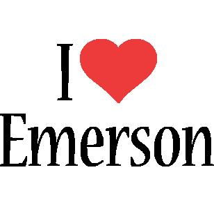 Emerson i-love logo