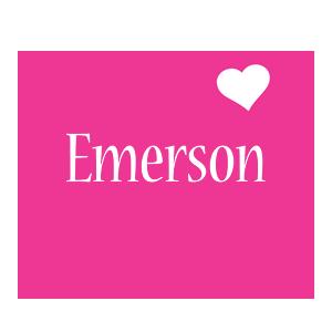 Emerson love-heart logo