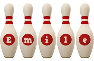 Emile bowling-pin logo