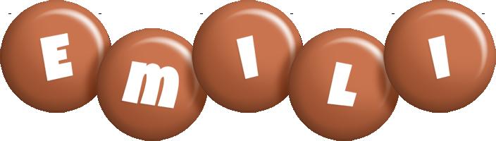Emili candy-brown logo