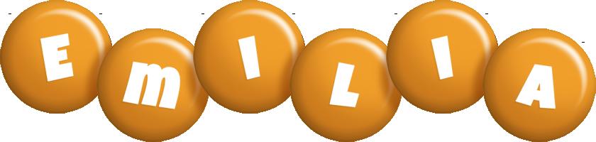 Emilia candy-orange logo