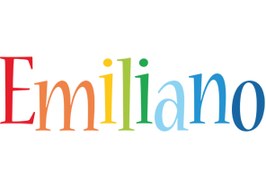 Emiliano birthday logo