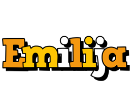 Emilija cartoon logo