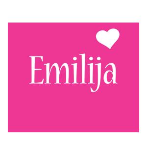 Emilija love-heart logo