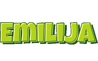 Emilija summer logo
