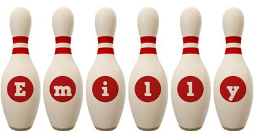 Emilly bowling-pin logo