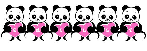 Emilly love-panda logo