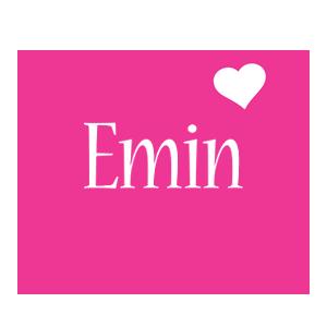 Emin love-heart logo