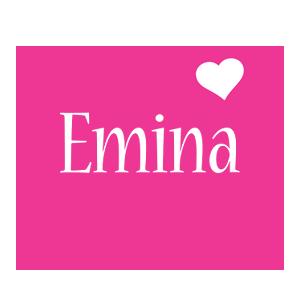 Emina love-heart logo
