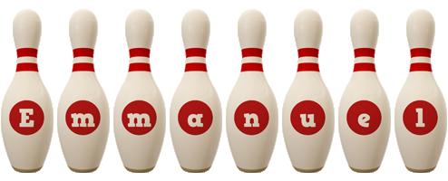 Emmanuel bowling-pin logo