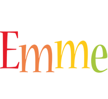 Emme birthday logo