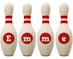 Emme bowling-pin logo