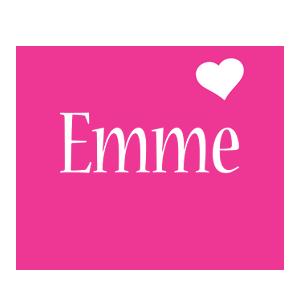 Emme love-heart logo