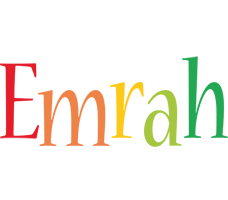 Emrah birthday logo