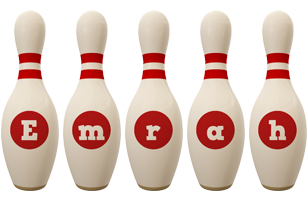 Emrah bowling-pin logo