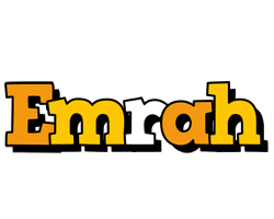 Emrah cartoon logo