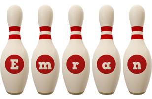 Emran bowling-pin logo
