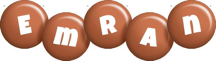 Emran candy-brown logo