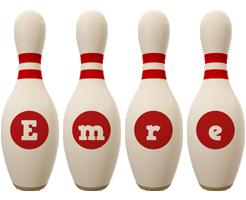 Emre bowling-pin logo