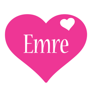 Emre love-heart logo