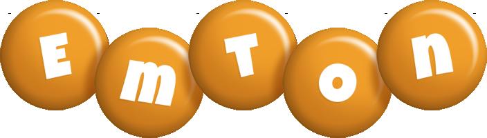 Emton candy-orange logo