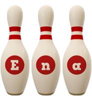 Ena bowling-pin logo