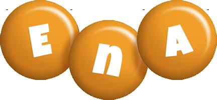 Ena candy-orange logo