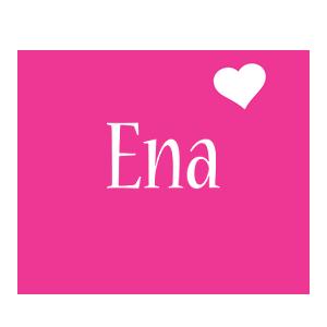 Ena love-heart logo