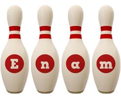 Enam bowling-pin logo