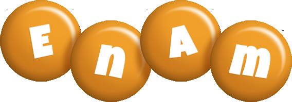 Enam candy-orange logo